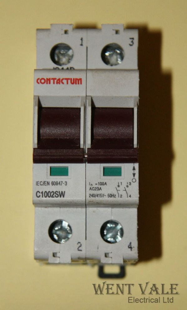 Contactum C1002SW - 100a Switch Disconnector Used